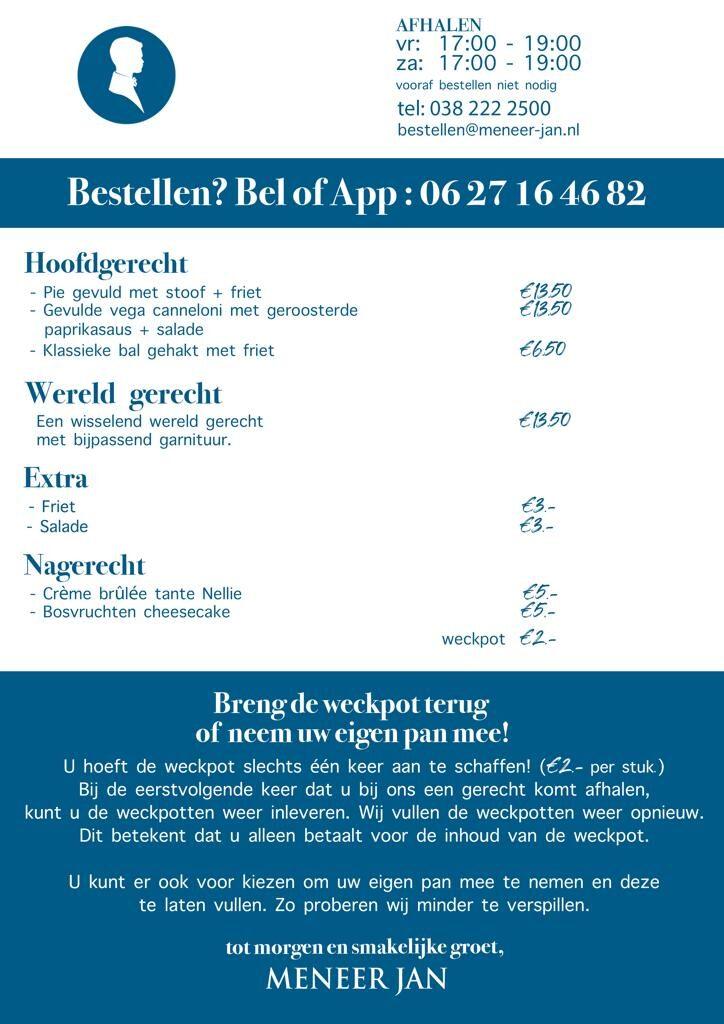 afhalen diner Zwolle